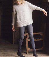 Модный свободный пуловер