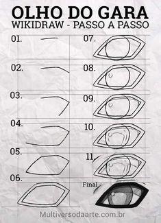 Manga Drawing Tutorials, Manga Tutorial, Drawing Tips, Drawing Sketches, Naruto Eyes, Naruto Shippuden Sasuke, Anime Naruto, Manga Eyes, Anime Eyes