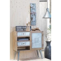 New Wooden Beautiful Cabinet funky looking industrial styling thats sure to make the ladies scream for this type of retro design, at Smithers of Stamford Modern Industrial, Vintage Industrial, Wooden Cabinets, Metal Chairs, Retro Design, Vintage Wood, Living Room Chairs, Stamford, Hallways
