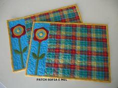 JOGO AMERICANO by PATCH E CIA - Sofia e Mel, via Flickr - good idea for a mug rug