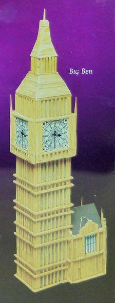 Big Ben Matchstick Craft, Little My, Big Ben, The Past, Woodworking, Crafts, Manualidades, Handmade Crafts, Carpentry