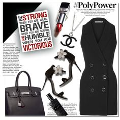 power by samha on Polyvore featuring polyvore, fashion, style, Topshop, Giuseppe Zanotti, Hermès, Chanel, Alaïa, clothing and PolyPower