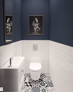 Having to get the upstairs toilet done as it keeps over flowing. This is my dream style. Husband sent it to me so not sure where the photo is from. Discount Bathroom Faucets, Bathroom Basin Taps, Modern Bathroom Light Fixtures, Wc Set, Toilet Tiles, Small Toilet Room, Bad Styling, Downstairs Toilet, Bad Inspiration