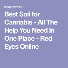 Best Soil for Cannabis - All The Help You Need In One Place - Red Eyes Online