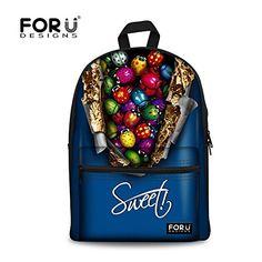5371f4ddc9e5 Blue Children Backpack Casual Bookbag Cool Backpacks