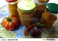 Pomazánka z kozích rohů na topinky recept - TopRecepty.cz Jar, Vegetables, Red Peppers, Vegetable Recipes, Jars, Veggie Food, Veggies, Drinkware