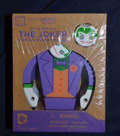 Loot Crate Exclusive DC COMICS Joker Painted Wood Figure NEW SEALED