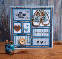 Rijk geboren. Baby Shower Cards, Baby Cards, Marianne Design Cards, Diy And Crafts, Paper Crafts, Baby Shawer, Baby Christening, Beautiful Handmade Cards, Scrapbook Cards