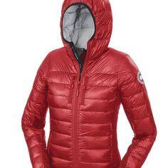 Canada Goose Dames Hybridge lichtgewicht Jas Rood Canada Goose Outlet jassen kopen