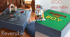 um, super awesome! I'd do a plain side and a lego side, though, to go on top of the train table in the living room (so that we'd actually have a coffee table option). :)