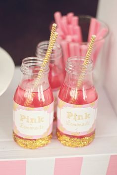 An Adorable Pink Lemonade themed birthday party via Kara's Party Ideas KarasPartyIdeas.com Printables, cake, invitation, desserts, supplies, etc! #lemonadestand #pinklemonadeparty (17)