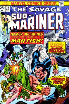 Sub-Mariner #70 cover by Gil Kane