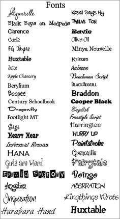 20 Favorite Fonts ~~ {20 Free fonts w/ 1 easy link to