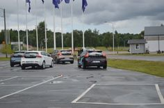 Volvo's self-parking car waits for another drive to move out of the way (Photo: Gizmag)