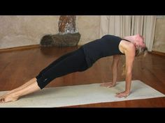 "http://www.EkhartYoga.com In this video ""Purvottanasana / Upward plank pose, Yoga"" Esther Ekhart demontrates how to get into Purvottanasana. This yoga poses ..."