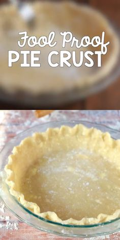 The only pie crust recipe you will ever use! Turns out perfect and flakey every single time! #piecrust