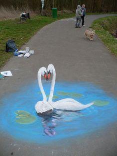 These Mind Blowing 3D Sidewalk Paintings Look Unbelievably Real.