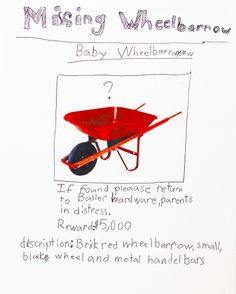 Missing Baby Wheelbarrow Poster