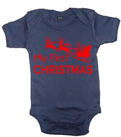 Navy MY 1ST CHRISTMAS' with Red Print.