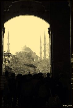 An umbrella and the Blue Mosque, Istanbul. #ewbc