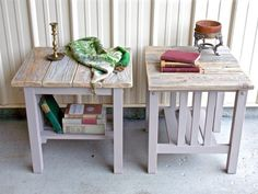 O&E Designs is a Washington and Idaho based home decor and furniture company creating custom built and newly restored pieces using reclaimed wood, repurposed architectural salvage and vintage restorations. Table, Farmhouse Style Furniture, Wood Planks, Mission Style, Furniture Companies, Wood Construction, Bedroom Night Stands, Mission Style End Tables, Shop Design