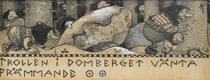 Trollen I Domberget Vanta Frammande (John Bauer)