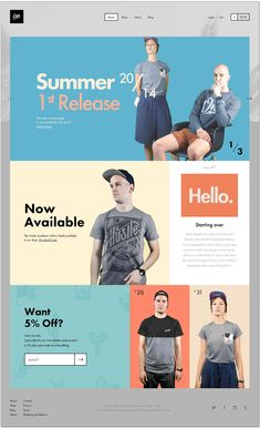 Over Clothing | #clean #webdesign