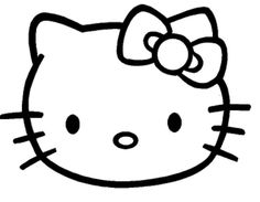 hello kitty face coloring pages template
