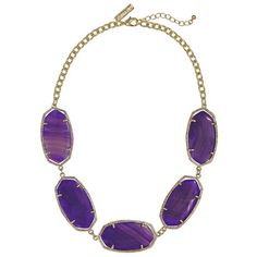 "Made from 14K gold plated brass. Reflecting a handmade artistry using natural stones, jewelry may have slight variations in color.  Necklace measures 19""L with 2"" extender  View entire Kendra Scott collection.  http://www.laylagrayce.com/?ssaid=460647"