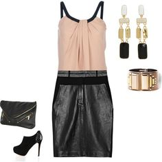 Cute leather skirt for Fall