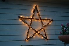 Bright Star Christmas Lights, Decorating Ideas, 50 Large Star Christmas Star Twig Star Wedding By Samandcompany