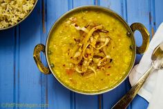 @FatFree Vegan Kitchen sure knows how to make beautiful food (and make food look beautiful!) -- Easy Fat-Free Dal Tadka