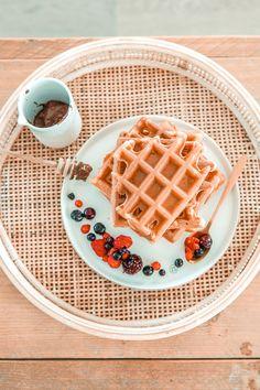 Breakfast Time, Breakfast Recipes, Healthy Recipes, Healthy Food, Yogurt, Waffles, Lunch, Desserts, Drinks