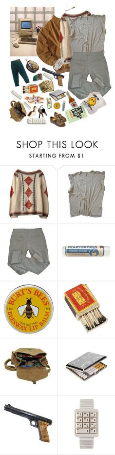 """having things"" by losgrowlers ❤ liked on Polyvore featuring Isabel Marant, Origins, Burt's Bees, Maison d'usQ, Jim Beam, She's So, Dr. Martens, men's fashion, menswear and 80s"