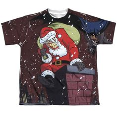 Batman: The Animated Series: Joker Claus Sublimated Youth T-Shirt