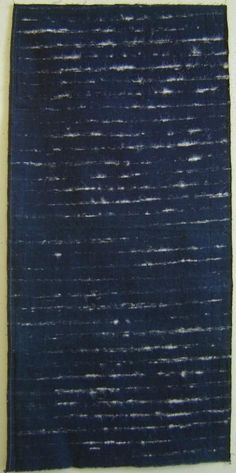 Hakucho-ori or swan weaving, was not worn by regular folk, it was the province of well-to-do women: it was a luxury fabric which, I understand, was used to fashion a kind of outer garment.The base is indigo dyed cotton, very tightly woven; the white, fluffy streaks along the weft direction, of course, are swan down.