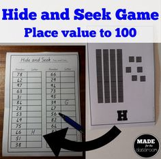 ***Place value to fun way to practice reading 'tens and ones' numbers, and understanding how they are represented with pictures. Hide these cards around your room, with the challenge for students to find all sheet and student recording sheet included. Math Place Value, Place Values, Game Place, Tens And Ones, Math 2, Recording Sheets, Elementary Math, Math Lessons, First Grade