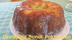 Pineapple Bundt Poke Cake Recipe Desserts with crushed pineapple, yellow cake mix, vanilla instant pudding, eggs, vegetable oil, vanilla pods, powdered sugar, butter, glaze