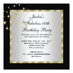 Purple Black Silver Women's Birthday Party Invitation