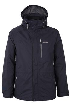Craghoppers Navy Blue Kiwi Waterproof Jacket The classic interactive walking jacket packed with technical features and constructed from a super-tough