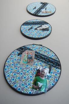 Embroidery Hoop Wall Decor, Picture Frame / Hanging Collage made from Repurposed / Upcycled Materials
