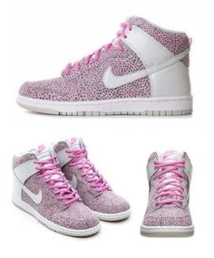 outlet store 1fa06 a256a Nike womens dunk sky hi size 5 print sneaker wolf grey pink white 543242 007