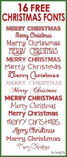 FREE Christmas Fonts!