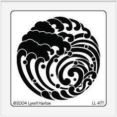 dreamweaver Stencil | Dreamweaver Embossing Stencil - Wave Crest
