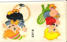 Vintage Duro Baby Decal Jack Over Candlestick & More Nursery Rhyme Retro…