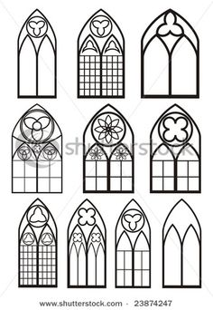 Photo about Chartres (Eure-et-Loir, Centre, France) - Interior of the cathedral in gothic style: stained glass. Image of front, glass, medieval - 26671180 Gothic Windows, Church Windows, Castle Window, Motif Art Deco, Gothic Architecture, Stained Glass Patterns, Gothic Art, Stained Glass Windows, Window Glass