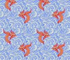Buy Weird Fishes custom fabric, wallpaper and home accessories by leighr on Spoonflower Custom Printed Fabric, Printing On Fabric, Fabric Wallpaper, Pattern Wallpaper, Wallpaper Art, Home Decor Fabric, Fabric Art, Textures Patterns, Fabric Patterns