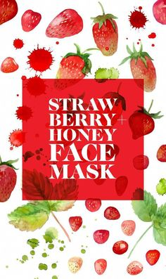 Treat and pamper yourself this weekend with this delicious strawberry honey face mask recipe #CucumberFaceMask #CharcoalMaskFace #AvocadoFaceMask Easy Face Masks, Diy Face Mask, Cucumber Face Mask, Honey Face Mask, Anti Aging Mask, Cleansing Mask, Charcoal Mask, Pastel Nails, Cute Winter Outfits