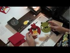 Stampinjill.com - DIY angry birds punch cardPublished on Jul 17, 2012 -     Stampin' Up! Demonstrator Jill Olsen demonstrats how to create an angry bird & an angry pig using just punches to create their faces. Fun and easy to create! Enjoy!