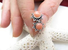 Coral studs Pink Angel Skin Coral earrings 35th by Inspiredby10